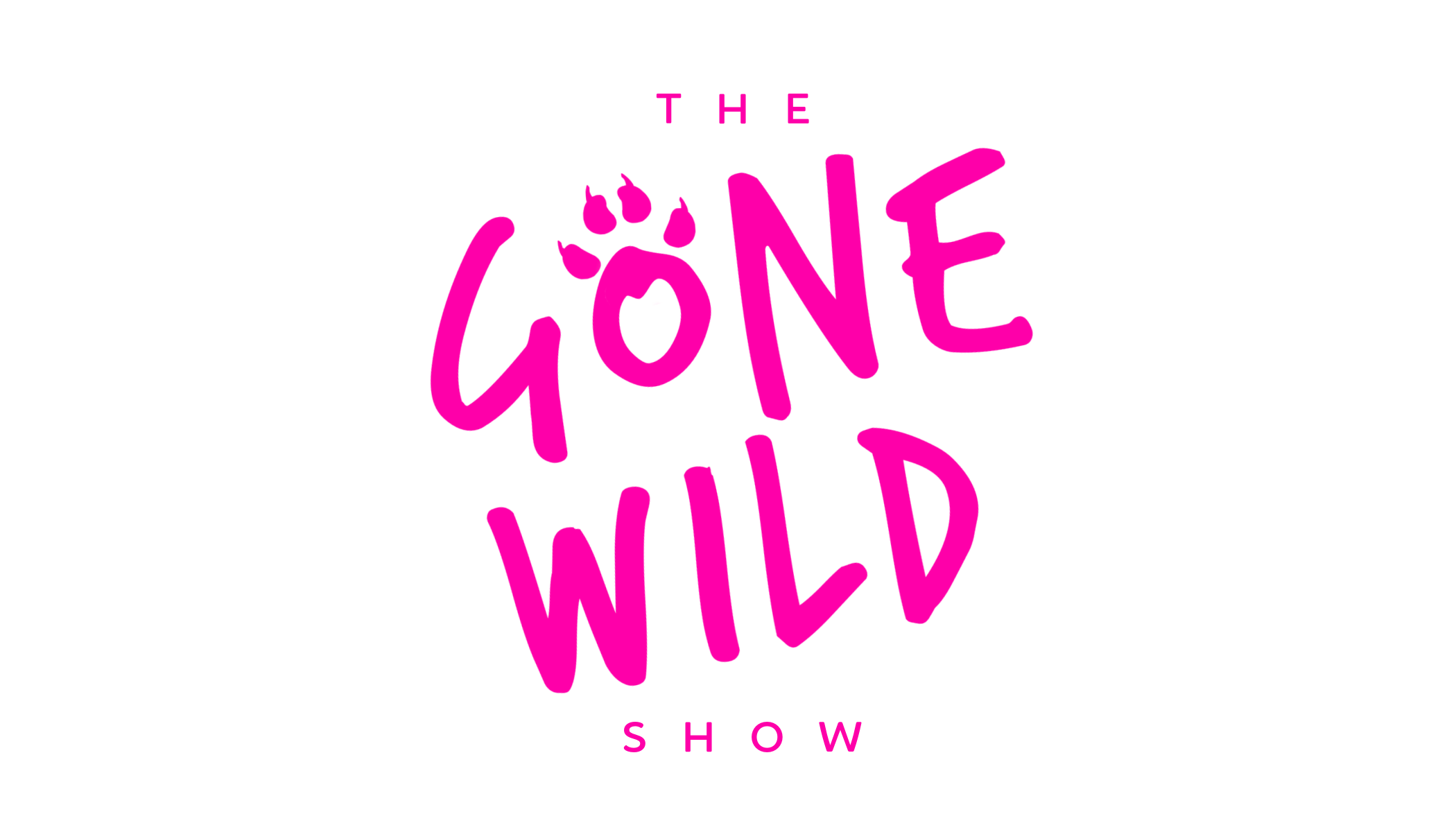 THE GONE WILD SHOW LOGO TEXT (stacked) new pink LARGE